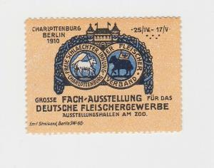 Vignette Fach-Ausstellung für das deutsche Fleischergewerbe Berlin 1910 (91889)
