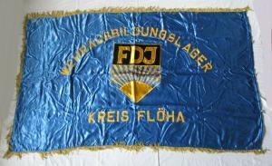 DDR Fahne FDJ Freie deutsche Jugend Wehrausbildungslager Kreis Flöha (135306)