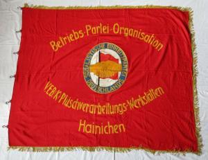 DDR Fahne VEB Plüschverarbeitungswerkstätten Hainichen Betriebs-Partei (135355)