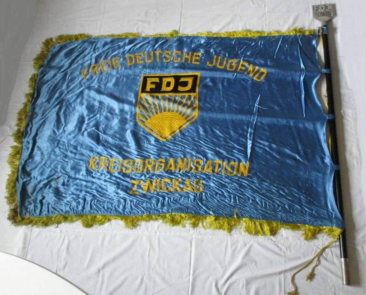 DDR Fahne FDJ Kreisorganisation Zwickau Freie Deutsche Jugend (135323) 0