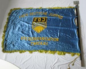 DDR Fahne FDJ Kreisorganisation Zwickau Freie Deutsche Jugend (135323)