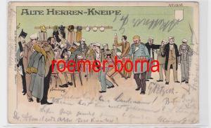 80914 Künstler Ak Bruno Bürger Nr. 1510 Alte Herren-Kneipe 1900