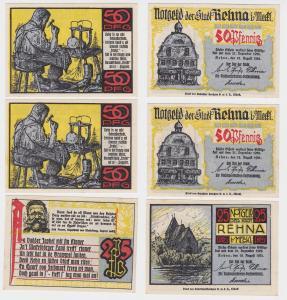 3 Banknoten Notgeld Stadt Rehna in Mecklenburg 1921 (115930)
