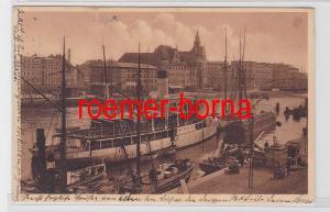 80445 Ak Stettin Hafenbild mit Hauptsteueramt 1909