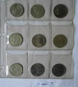 Sammlung mit 9 Gedenkmünzen Rubel UdSSR CCCP Sowjetunion (129571)
