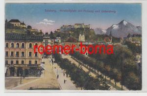 71450 Ak Salzburg Mirabellplatz mit Festung und Untersberg 1926