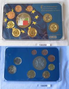 KMS Euro Kursmünzensatz Malta 2008 in Stempelglanz plus Medaille (130250)