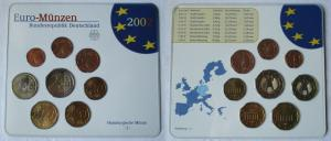 BRD KMS Kursmünzensatz Umlaufmünzenserie 2002 - J - Hamburg Stgl. (135125)