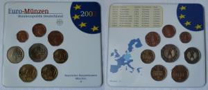 BRD KMS Kursmünzensatz Umlaufmünzenserie 2002 - D - München Stgl. (135169)