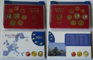 BRD KMS Kursmünzensatz Umlaufmünzenserie 2004 - J - Hamburg PP (135034)