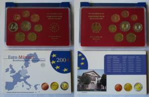BRD KMS Kursmünzensatz Umlaufmünzenserie 2004 - G - Karlsruhe PP (135197)