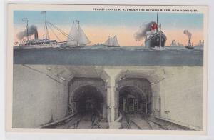 37971 Ak New York City Pennsylvania R.R. Tunnel under the Hudson River 1914