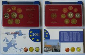BRD KMS Kursmünzensatz Umlaufmünzenserie 2002 - D - München PP (135171)
