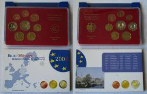 BRD KMS Kursmünzensatz Umlaufmünzenserie 2002 - J - Hamburg PP (135338)