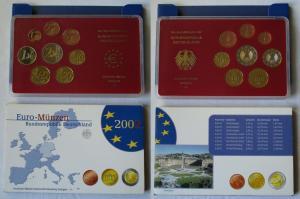 BRD KMS Kursmünzensatz Umlaufmünzenserie 2002 - F - Stuttgart PP (135121)