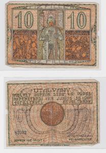 10 Filler Banknote Ungarn Sopron 1919 (119644)