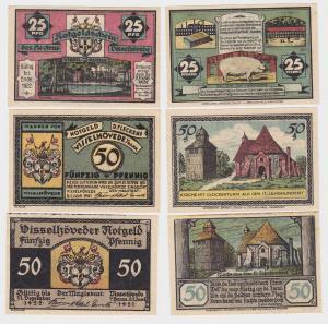 3 Banknoten Notgeld Flecken Visselhövede 1.6.1921 (121917)
