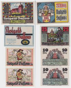 4 Banknoten Notgeld Gemeinde Dassow in Mecklenburg (116077)