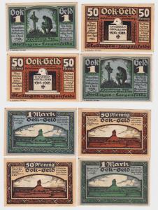 4 Banknoten Notgeld Stellingen Langenfelde Gefallenen Ehrenstätte (1922)(121902)