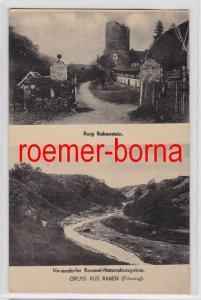 81254 Mehrbild Ak Gruss aus Raben (Fläming) Burg Rabenstein u.a. um 1930
