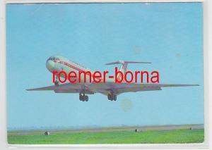 78690 Foto Ak Interflug Turbinenluftstrahlverkehrsflugzeug IL 62 von 1980