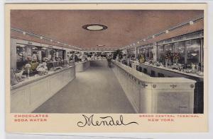 80913 Ak New York Mendel Chocolates Soda Water Grand Central Terminal 1914