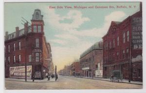 82160 Ak Buffalo N.Y. East Side View, Michigan an Genessee Sts. 1914