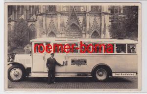 69146 Foto Ak Köln Autobus Fa. Heinrich Kaltwasser vor dem Dom um 1930