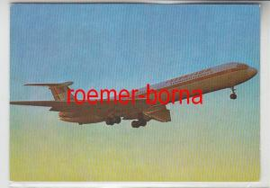 69727 Foto Ak Interflug Turbinenluftstrahlverkehrsflugzeug IL 62 von 1977