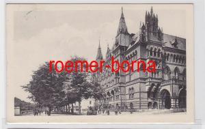 82035 Ak Rostock Wallstrasse mit Ständehaus 1911