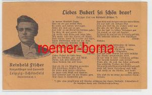 67765 Ak Reklame Reinhold Fischer Konzertsänger Leipzig-Schönefeld um 1920