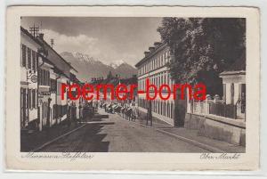 77330 Ak Murnau am Staffelsee Ober Markt um 1930