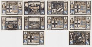 5 Banknoten Notgeld Magistrat Attendorn o.D. (1922) (116253)