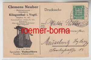 80803 Ak Reklame Clemens Neuber Zitherfabrik Klingenthal i. Vogtl. 1926