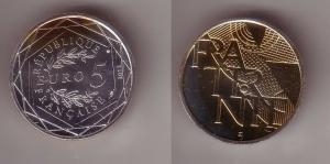 5 Euro Silber Münze Frankreich Fraternite 2013 (115667)