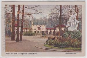 83698 AK Gruss aus dem Zoologischen Garten Berlin - Das Kameelhaus 1910