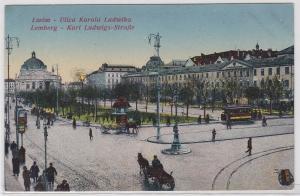87766 AK Lemberg (Lwów) - Karl Ludwigs-Straße (Ulica Karola Ludwika) 1918