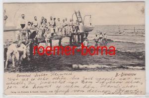 81993 Ak B.-Dievenow Dziwnów Herrenbad 1903
