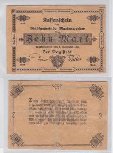 10 Mark Mark Banknote Kriegsnotgeld Stadtgemeinde Marienwerder 1918 (119877)