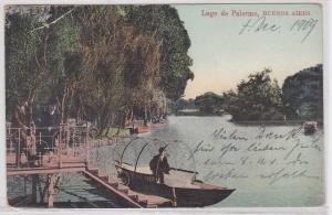 86655 AK Lago de Palermo, Buenos Aires - Blick auf den See mit Bootssteg 1909