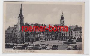 80451 Ak Trautenau im Sudetengau Markt mit Warenhaus 1945