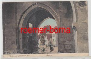 61802 Feldpost Ak Gruß aus Dambach Elsass Obertor 1916