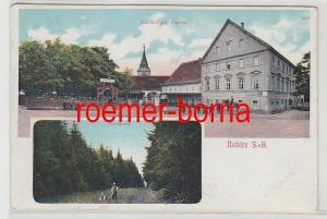 68079 Mehrbild Ak Nobitz S.-A. Gasthof mit Garten, Leinapartie 1912