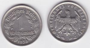 1 Mark Nickel Münze III.Reich 1934 G Jäger Nr. 354 (125523)