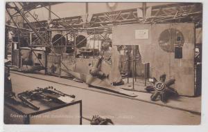 77309 Foto Ak Erbeutete Gondel u. Zubehörteile franz. Luftschiff Alsace um 1915