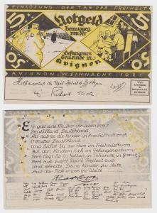 5 Mark Banknote Avignon Gefangenen-Gemeinde 1921 (117904)