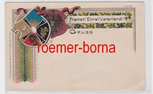 81373 patriotische Ak von Bruno Bürger Nr. 1367 Freiheit Ehre Vaterland um 1900