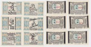 6 Banknoten Notgeld Gemeinde Bönningstedt ohne Datum (1921) (118880)