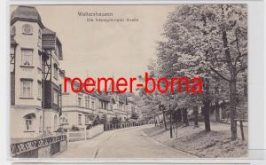 82028 Ak Waltershausen Die Schnepfentaler Straße um 1920