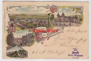 81834 Ak Lithographie Bruss aus Barmen Ortsansichten 1896